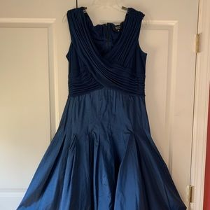 tadashi Navy blue evening dress